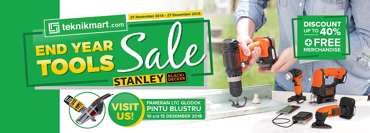 End Year Tool Sale 2018 - FEATURING STANLEY + BLACK AND DECKER