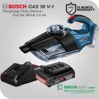 Bosch GAS 18 V-1 18 Volt Cordless Vacuum Cleaner Dry Full Set (2.0 Ah)