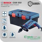Bosch GSB 550 Freedom Kit 13mm Bor Listrik Impact Set