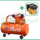Shark 1 HP LVU-6501 Kompresor Angin Unloader Dengan Mesin Bensin G160F
