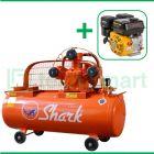 Shark 2 HP LWU-6502 Kompresor Angin Unloader Dengan Mesin Bensin G 160 F