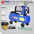 Yama 1/4 HP YM-0130U Kompresor Angin Unloader Dengan Mesin Bensin G 160 F