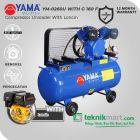 Yama 1/2 HP YM-0260U Kompresor Angin Unloader Dengan Mesin Bensin G 160 F