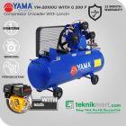 Yama 2 HP YM20-100U Kompresor Angin Unloader Dengan Mesin Bensin G 200 F