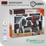 Black And Decker BCPK1249C 12Volt Cordless Drill/Driver Kit / Bor Obeng Baterai dengan Perkakas