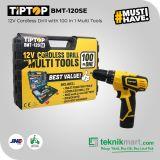 Tip Top BMT-120SE 12V Cordless Drill with Tools / Bor Obeng Baterai Dengan Pekakas 100Pcs