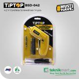 Tip Top BSD-042 4.2V Cordless Screwdriver with Acc / Obeng Baterai dengan Aksesories
