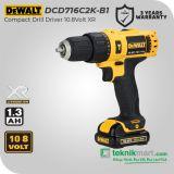 Dewalt DCD716C2K 10.8V XR Cordless Impact Drill / Bor Tembok Baterai
