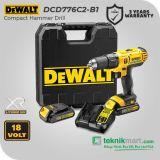 Dewalt DCD776C2 18V 1.3AH Cordless Hammer Drill / Bor Tembok Baterai
