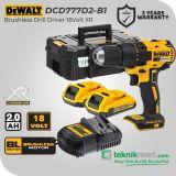Dewalt DCD777D2 18Volt Brushless Drill Driver XR / Bor Obeng Baterai