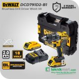 Dewalt DCD791D2 18Volt XR Brushless Drill Driver / Bor Obeng Baterai