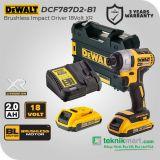 Dewalt DCF787D2 18V XR Brushless Impact Driver / Obeng Impact Baterai