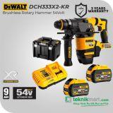 Dewalt DCH333X2 54V FlexVolt Cordless Rotary Hammer/ Bor Beton Baterai