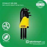 PROMO Stanley 69-256 1.5-10mm 9Pcs Ballpoint Hex Key / Kunci L Ballpoint