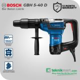 Bosch GBH 5-40 D 8.5 Joule 40 mm Rotary Hammer atau Bor Beton Listrik