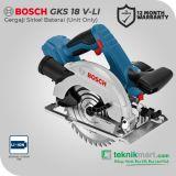 Bosch GKS 18V-Li 18Volt 165mm Cordless Circular Saw / Gergaji Sirkel Baterai (Unit Only)