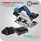 Bosch GWS 18 V-Li 18Volt 115mm Cordless Angle Grinder / Gerinda Tangan Baterai Full Set (Baterai 4.0 Ah)