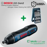 Bosch GDR 120-LI GEN3 12V Obeng Baterai Dengan Bosch 25 Pcs X-Line Set Mata Obeng