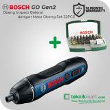 Bosch GDR 120-LI GEN3 12V Obeng Impact Baterai Dengan Bosch 32Pcs Screwdriver Bit Set