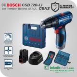 Bosch GSB 120-LI GEN3 12 Volt Bor Impact Baterai dengan Aksesories