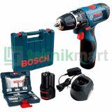 Bosch GSR 120-LI 12Volt Bor Non Impact Baterai dengan 43 Aksesories