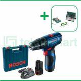 Bosch GSB 120-LI Gen3 12V Bor Baterai Reversible Dengan Mata Bor Bosch CYL-4  Multi Material 8 Pcs