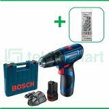 Bosch GSB 120-LI Gen3 12V Bor Baterai Impact Dengan Mata Bor Bosch CYL-4  Multi Material 5 Pcs