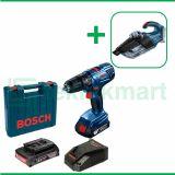 Bosch GSB 180-Li 18 Volt Bor Baterai Reversible Dengan Bosch GAS 18V-1 Vacuum Cleaner Wet