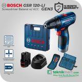 Bosch GSR 120-LI GEN3 12 Volt Bor / Driver Baterai dengan Aksesories