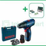 Bosch GSR 120-LI Gen3 12V Bor Baterai Reversible Dengan Mata Bor Bosch X-Line Set  Multi Material 41 Pcs