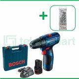 Bosch GSR 120-LI Gen3 12V Bor Baterai Reversible Dengan Mata Bor Bosch CYL-4 For Multi Material 5 Pcs