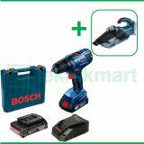 Bosch GSR 180-Li 18 Volt Bor Baterai Reversible Dengan Bosch GAS 18V-1 Vacuum Cleaner Wet