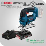 Bosch GKS 18V-Li 18Volt 165mm Cordless Circular Saw Battery / Gergaji Sirkel Baterai Full Set (Baterai 2.0 Ah)