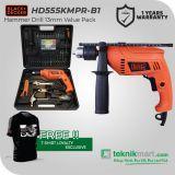 PROMO Black And Decker HD555KMPR 13 mm Bor Listrik Impact Dengan 100 aksesoris