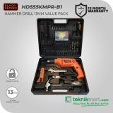 Black And Decker HD555KMPR 13 mm Bor Listrik Impact Dengan 100 aksesoris
