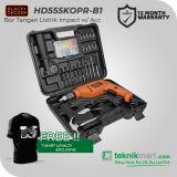 PROMO Black And Decker HD555KOPR 13 mm Bor Listrik Impact Dengan 88 Aksesoris