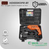 Black And Decker HD555KOPR 13 mm Bor Listrik Impact Dengan 88 Aksesoris