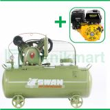 Swan 5 HP HVU-205 Kompresor Angin Unloader Dengan Mesin Bensin G 390F