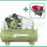 Swan 10 HP HWU-310 Kompresor Angin Unloader Dengan Mesin Diesel S 1110 M