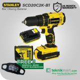 Stanley SCD20C2K-B1 18Volt Cordless Drill Driver / Bor Obeng Baterai