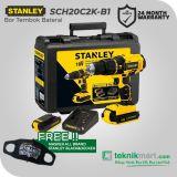 Stanley SCH20C2K-B1 18 Volt Cordless Hammer Drill / Bor Impact Baterai
