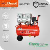 Shark 3/4 HP OV 0725 Kompresor Angin Automatic Dengan Motor  3/4 HP 1P