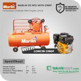 Marlin MRL 1/2 HP Kompresor Angin Unloader Dengan Mesin Bensin  G160F