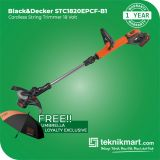 Black And Decker STC1820EPCF 18Volt Cordless String Trimer / Potong Rumput Baterai