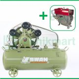 Swan 7.5 HP SWU-307 Kompresor Angin Unloader Dengan Mesin Diesel S 195