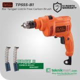 PROMO Black And Decker TP555 10 mm Bor Listrik Impact Free Carbon Brush 90640327