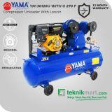 Yama 3 HP YM30-120U Kompresor Angin Unloader Dengan Mesin Bensin G 270 F