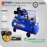 Yama 5.5 HP YM55-160U Kompresor Angin Unloader Dengan Mesin Bensin G 390 F